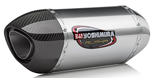 Yoshimura 17-18 Suzuki SV650 Alpha Slip-On Exhaust (Street/Stainless Steel/Stainless Steel/Carbon Fiber)