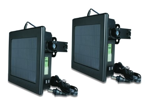 (2) Moultrie Game Camera 12 Volt Solar Power Panels (Pair)