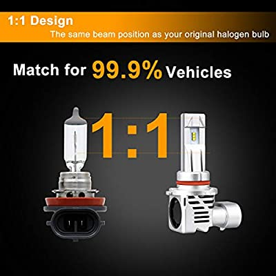 9005 9006 Combo LED Headlight Bulb Kit, LINKSTYLE 1:1 Design 9005/HB3 High Beam 9006/HB4 Low Beam Wireless Headlight with 12000LM/Per Set ZES chip 6500K Cool White 26W Per Bulb: Everything Else