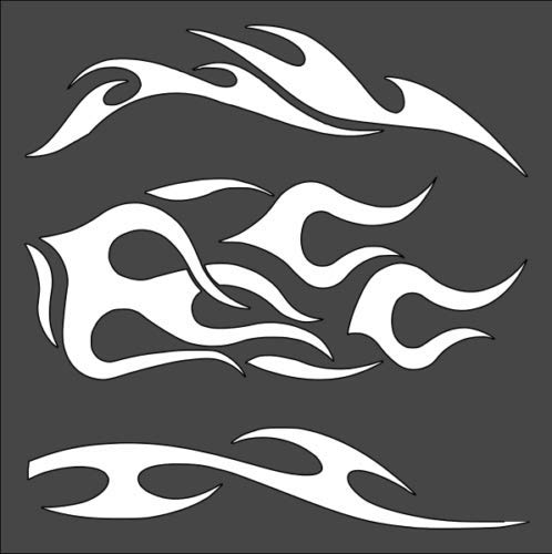 - Stencils for Painting Tribal Fire Flames 5.5 x 5.5
