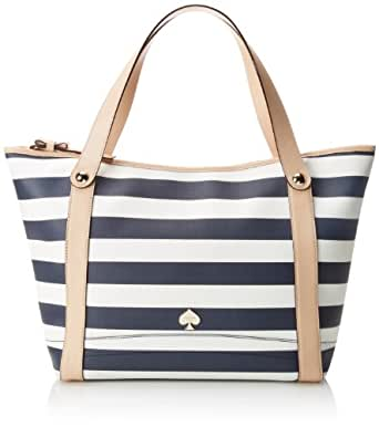 kate spade new york Cobblestone Park Stanley Shoulder Bag,French Navy/Cream,One Size