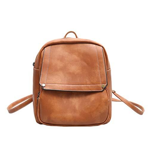 Travel Schoolbags Brown red Shoulder Women Backpacks 25x13x26cm Bag qxzpEx5
