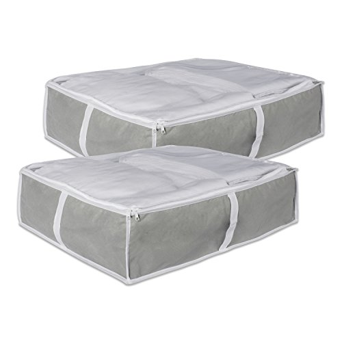 DII Breathable, Under the Bed or Closet Soft Storage Bag with Clear Viewing Window & Zipper Closure for Clothing, Linens, & Shoes (Blanket Size - 24 x 18 x 12