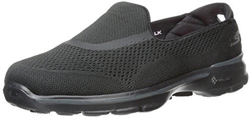 Skechers Go Walk 3-Strike Mujer US 6.5 Negro Zapatos para Caminar