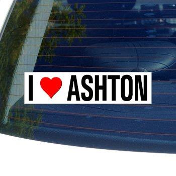 Ashton Window (I Love Heart ASHTON - Window Bumper Laptop Sticker)