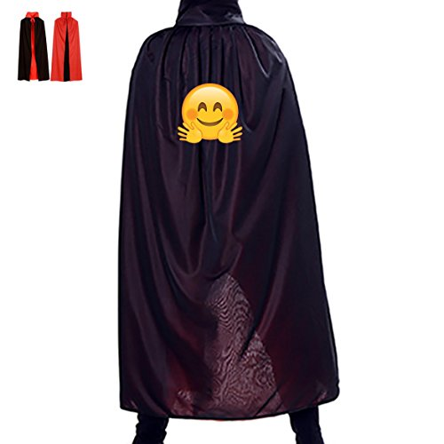 Victory Emoji Meme Wizard Cape Robe Cloak Cowl for Children Adults Halloween Costumes