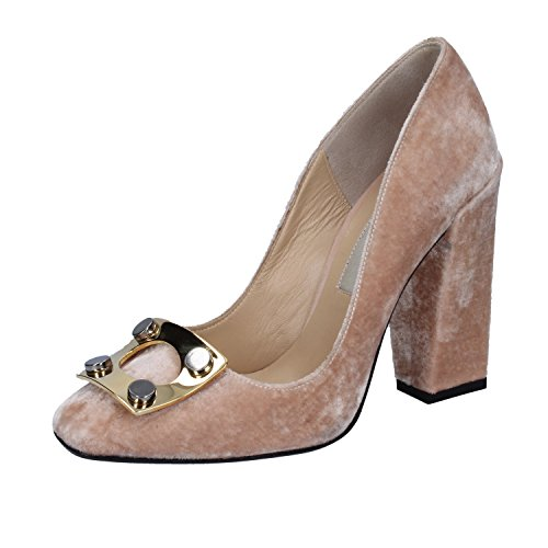 GIANNI Pink Velvet 37 Womens Pumps Heeled MARRA 5 Sandals EU Ap8A1Trn