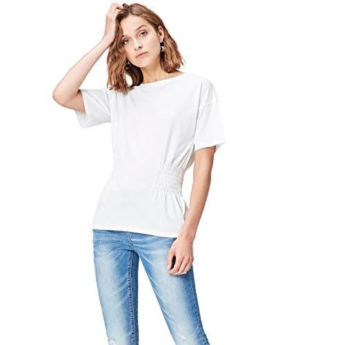 c4f3d4dc5368 30% de descuento FIND Camiseta con Detalles de Nido de Abeja Para Mujer