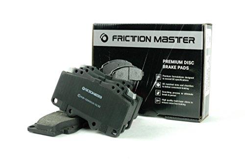 Friction Master Black MKD473 Front Premium Semi-Metallic Brake Disc Pad Set ()