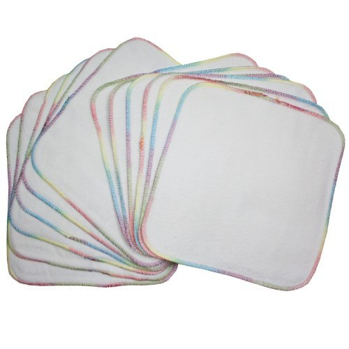 Terry Flannel Wipes (12 Pack) (Bleached) by OsoCozy [並行輸入品]   B01AL03KKA