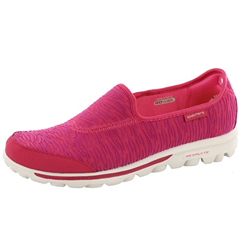 Skechers Go Walk Upstage Womens Slip On Sneakers Pink 7.5 (Sneakers Skechers Canvas)
