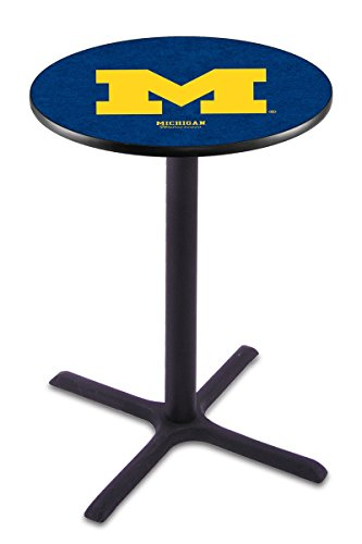 Holland Bar Stool L211B University Of Michigan Officially Licensed Pub Table, 28