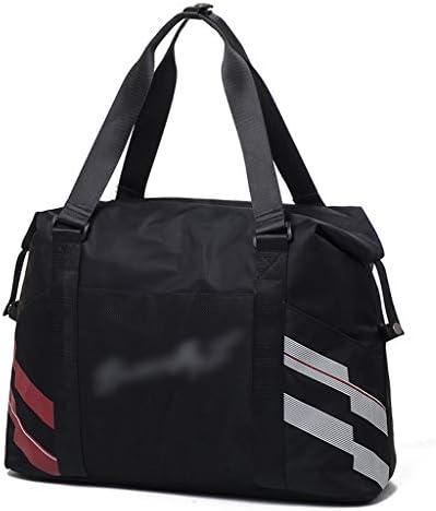 スポーツバッグ、ヨガバッグブラック、ピンクのような適切な軽量大容量のゴルフ服バッグ多機能ポータブル近距離トラベルバッグ HMMSP (Color : Black)