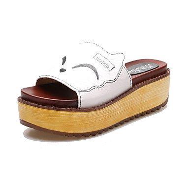 Black Flat Summer EU39 UK6 White Pu Comfort Women'S Sandals CN39 Casual RTRY Comfort Creepers US8 qw4B8RRv