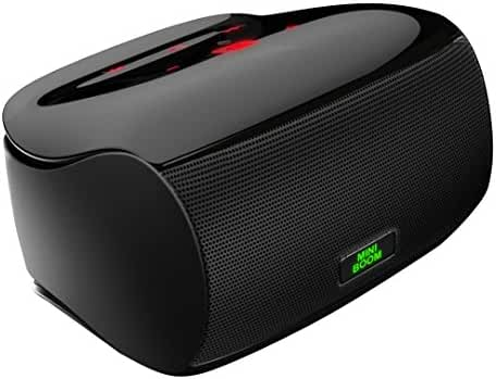 Mighty Rock Touch Wireless Bluetooth Speakers , Ultra Portable Speaker with Superior Sound Quality and Dual Powerful Subwoofer Enhanced Rich Bass, Built in Microphone (Black)