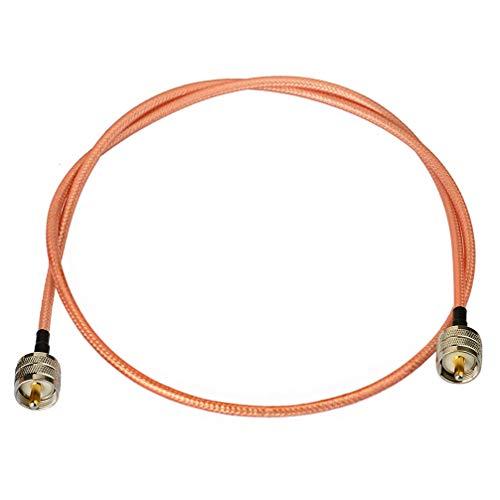 Bingfu UHF PL-259 Male to Male RG400 Double Shielded Low Los