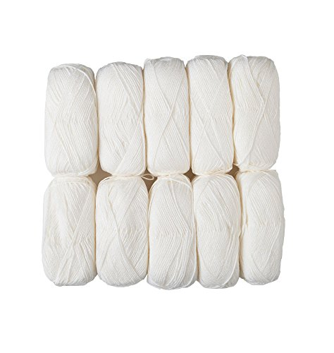 Brava Worsted Sampler 10-Pack -White