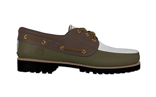 c42acd97c0e08 Timberland Men's Authentic Handsewn 3-Eye Classic Boat Shoe (19529) (Olive  Green/Chocolate/White) (UK 7.5 / EU 41.5): Amazon.co.uk: Shoes & Bags