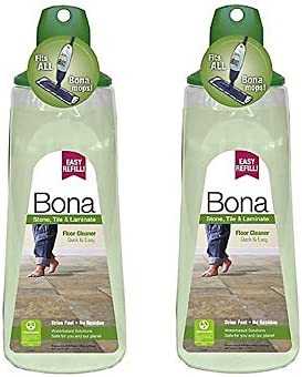 Bona 34 oz.. Stone, Tile, and Laminate Floor Cleaner Cartridge, Pack of two