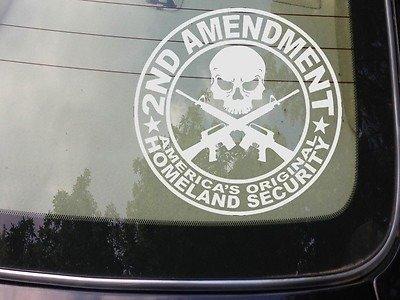 2a second amendment sticker decal a032 obama assault skull gun laptop window sticker
