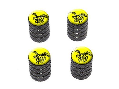 Motif frelon noir et jaune Coloris/ Bouchons de valve de pneu noir