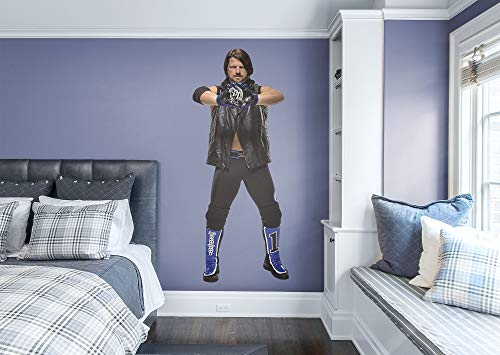 FATHEAD AJ Styles-Life-Size Officially Licensed WWE Removable Wall Decal, Multicolor