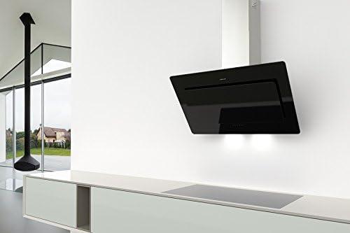 Alta calidad sin cabeza Campana galvamet Blade 60/energía Clase A/60 cm/Black/Negro/oblicuo Diagonal Campana Pared Campana/cristal diseño/ECO LED/1124 M³/h/Modern, calidad/100% Made in Italy: Amazon.es: Bricolaje y herramientas