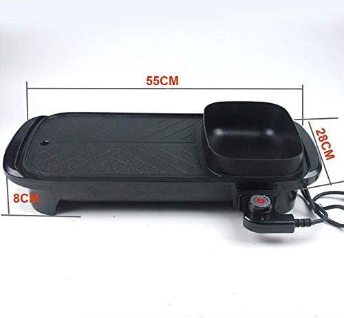 Kyman Grill électrique Portable Barbecue sans fumée Machine Gril d'intérieur BBQ Grill Hot Pot, rempli d'eau Goutte à Goutte Plateau, 1600 W