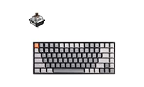 Keychron K2 RGB Wireless Mechanical Gaming Keyboard with Gateron Brown Switch/USB Wired/Anti Ghosting /84 Key N-Key Rollover, Bluetooth Computer Keyboard for Mac Windows PC Gamer