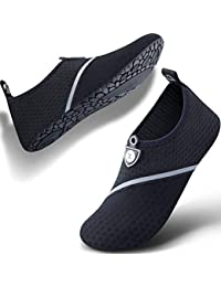 40d0b8818173 Womens and Mens Water Shoes Quick-Dry Aqua Socks Barefoot for Outdoor Beach  Swim Sports