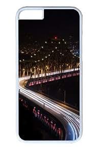 Bridge night lights long Exposure Custom iphone 6 plus Case Cover Polycarbonate White by lolosakes