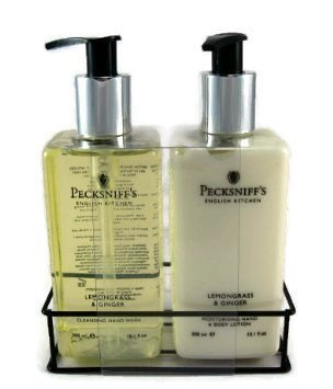 Pecksniff's Hand Wash & Lotion Duo Lemongrass & Ginger Set - 10.1 oz each