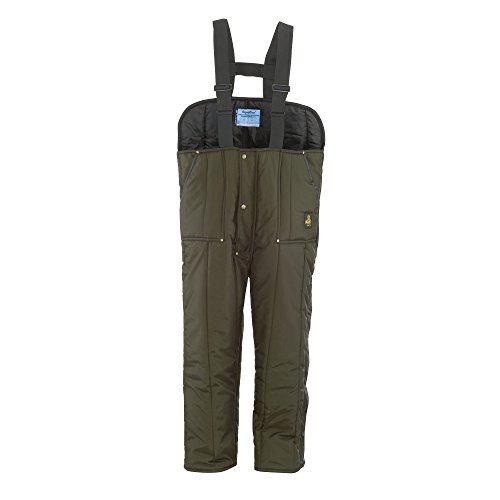 RefrigiWear Men's Iron-Tuff Low Bib Overalls, Sage, 4XL Short by Refrigiwear