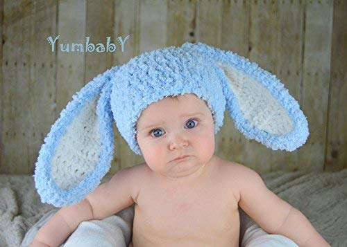 59d0ea375 Amazon.com: Easter Clothes Blue Bunny Hat Kids Easter Outfit Baby ...