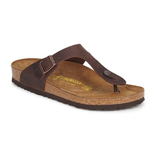 Waxy Leather Brown - Birkenstock Women´s Gizeh Habana Waxy Leather Sandals 36 EU (L5 US) R 743831