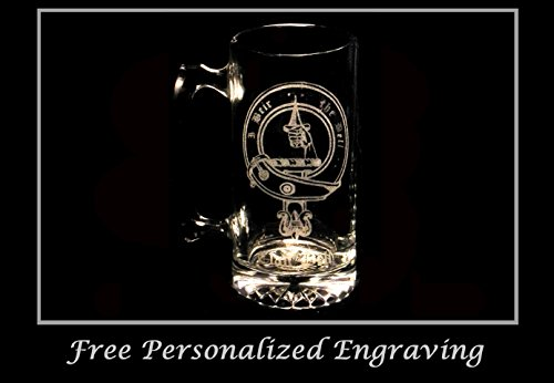 Bell Scottish Clan Crest Stein: Free Shipping & Personalized Engraving by LyonCraft