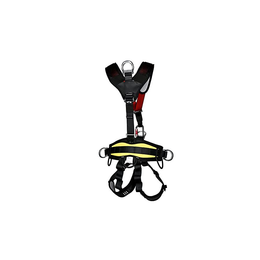 kissloves Full Body Safety Harness Outdoor Climbing Momentum Harness for Mountaineering Outward Band Expanding Training Caving Rock Climbing Rappelling Equip