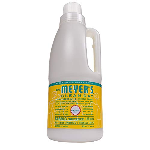 Mrs. Meyer's Clean Day Liquid Fabric Softener Bottle, Honeysuckle Scent, 32 Fluid Ounce (Best Baby Detergent And Fabric Softener)