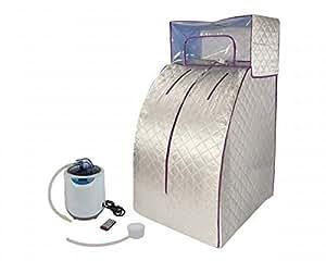 Sauna de vapor portátil deluxe, Svedana con generador de vapor de 2 litros, 1000 W, controlado electrónicamente, con control remoto inalámbrico.