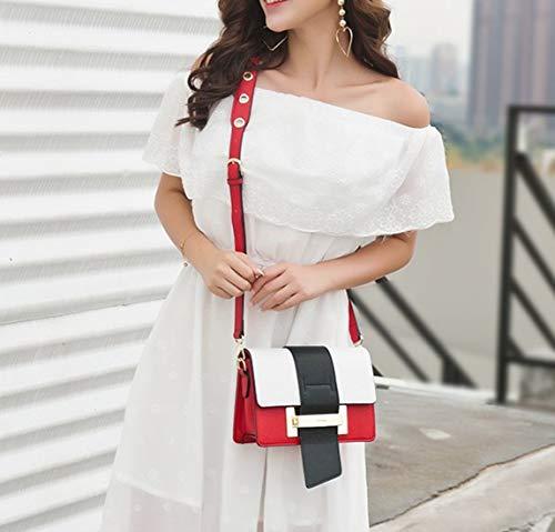 Negro Red Pequeño color Hombro Mujer De Con Puño Color Black Haxibkena Para Bolso 7x6w04T1