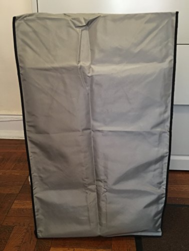 Haier HPN14XHM Portable Air Conditioner Silver Nylon Anti-Static Dust Cover with side package to put the remote control Dimensions 20''W x 16.7''D x 33.6''H