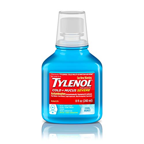 Tylenol Cold + Mucus Severe Daytime - Cool Burst , 8 Oz. (Best Syrup For Cough And Sore Throat)