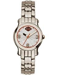 Harley-Davidson Womens Bulova Bracelet Wrist Watch 76L156