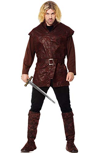 Costume Culture Men's Medieval Lord Costume, Brown, Standard