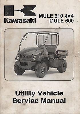 2005 KAWASAKI ATV MULE 610 4X4 UTILITY P/N 99924-1349-03 SERVICE MANUAL (750) ()