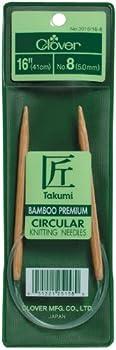 CLOVER Takumi Bamboo Circular Knitting Needles
