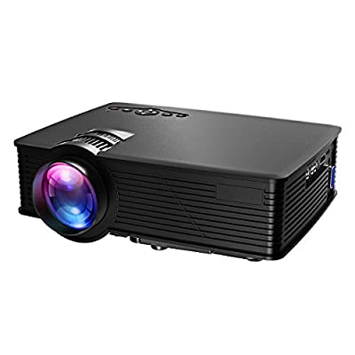 Victsing LED Projector 1080P Full HD, HDMI VGA AVUSB SD Card Input for Home Theater