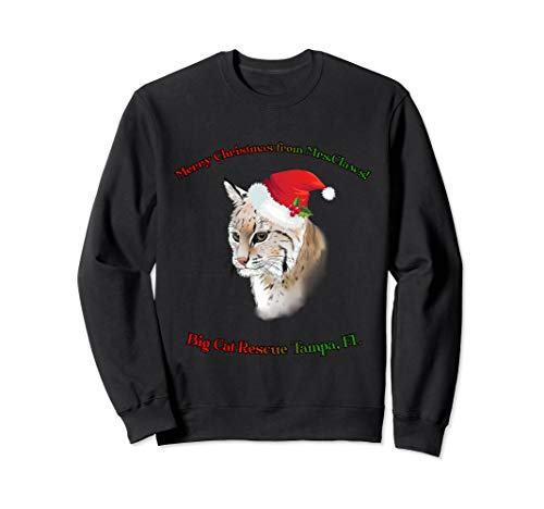 Big Cat Rescue Merry Christmas Mrs. Claws Sweat Shirt ()