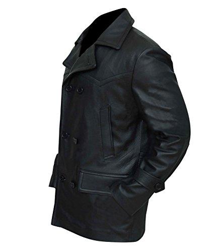 Men/'s WW2 Marine German Navy U-Boat Submarine Captain Leather Coat Jacket