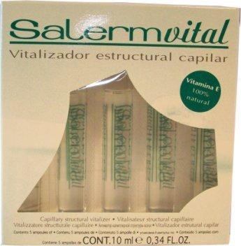 Salerm Vital Capillary Structural Vitalizer Ample 0.34oz x 5 (10ml x 5) by Salerm